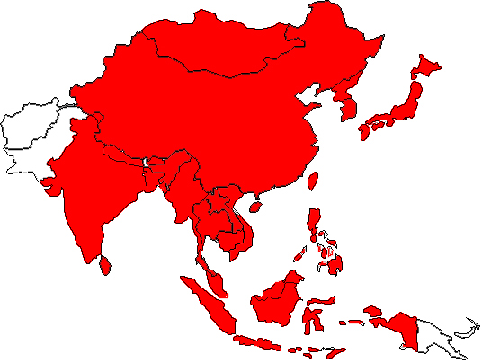 map east asia