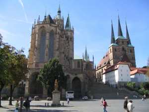 Erfurt, Dom Square Photo Ed Sluimer 2004