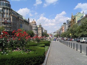 Prague, Wenceslas Square Photo Ed Sluimer 2007