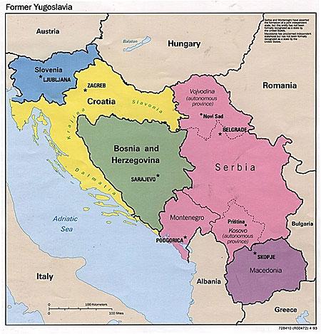 yugoslavia map
