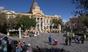 La Paz, Plaza de Murillo Photo Vincent Tepas 2012