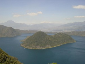 Cuicocha crater lake Photo Hans Peels 2004