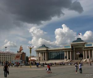 Ulaanbaatar, Sukhbaatar Square Photo Vincent Tepas 2009
