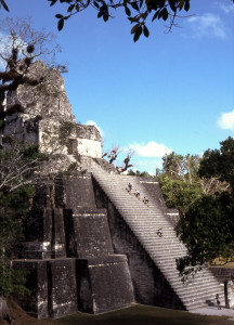 Tikal Temple Photo Vincent Tepas 2001
